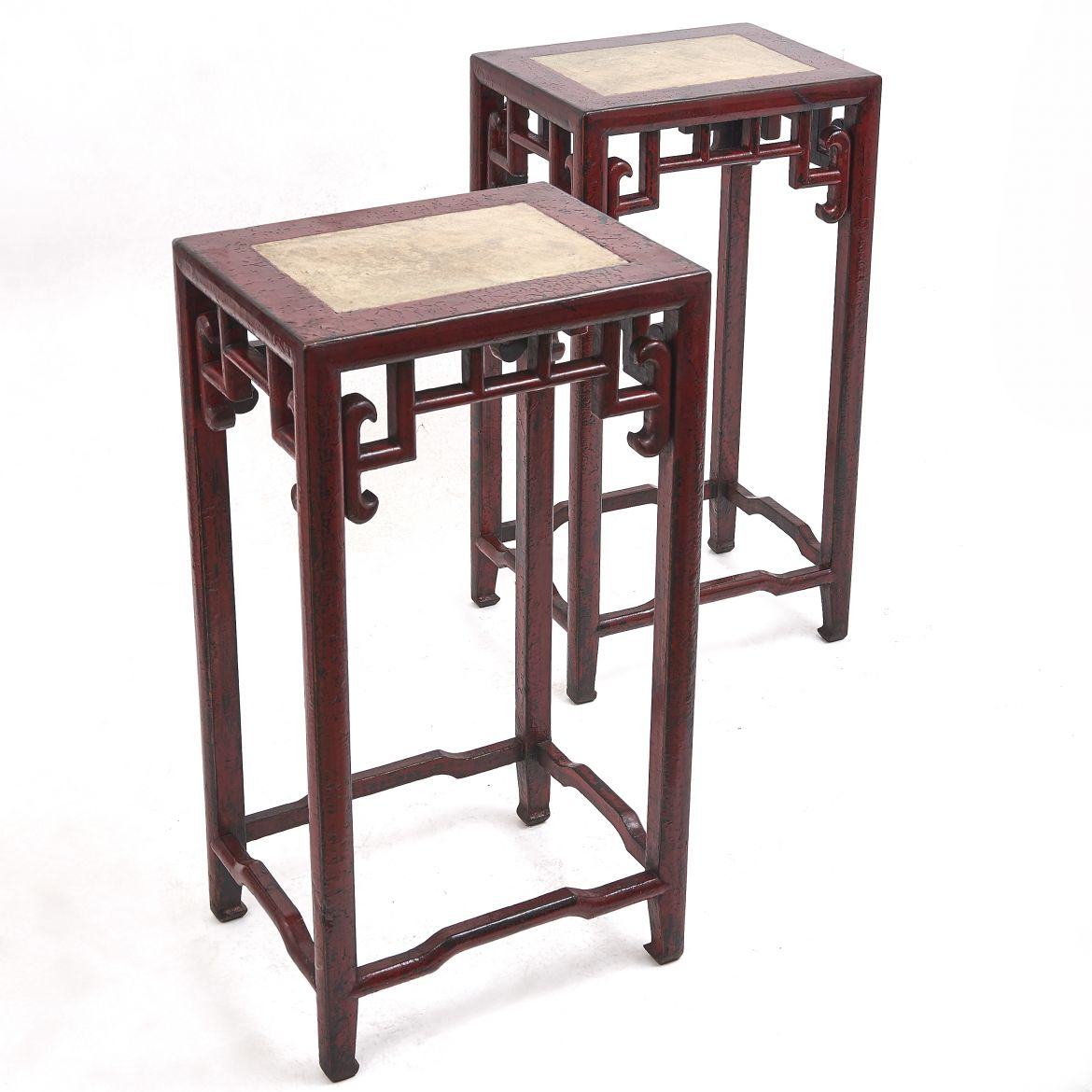 Red Lacquer Tea Tables