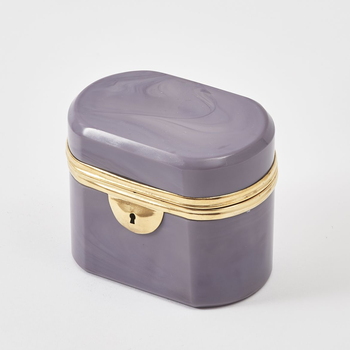 Bohemian Purple Lithyalin Casket