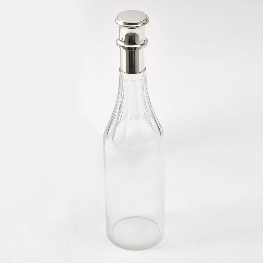 English Glass Bottle shaped Decanter