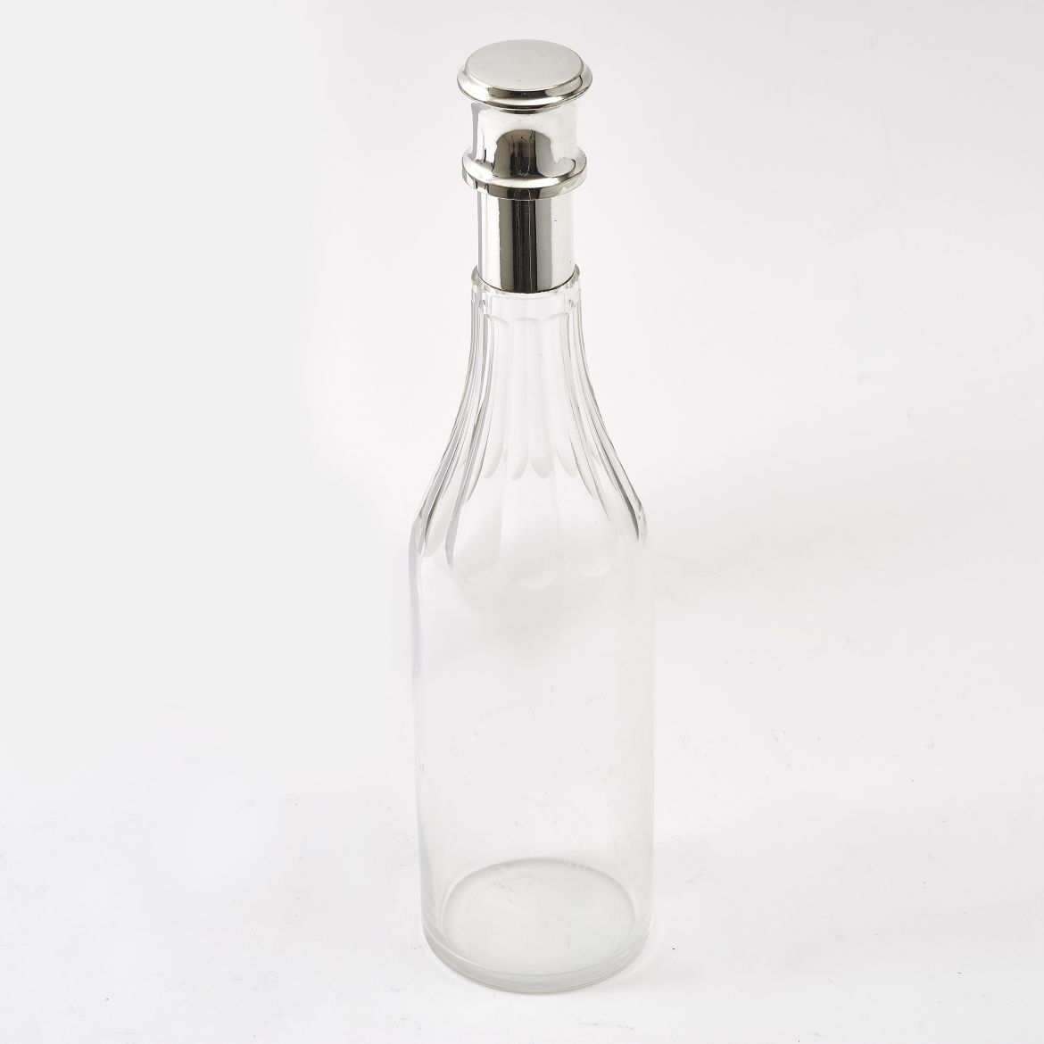 Faceted Glass Bottle Decanter