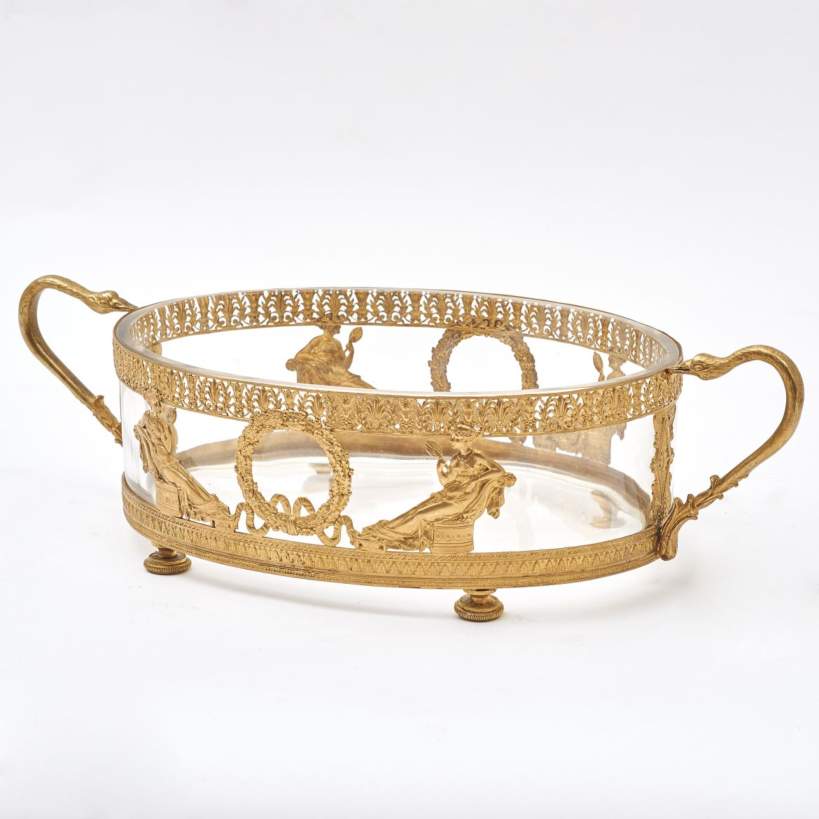 French Ormolu Mounted Crystal Bowl