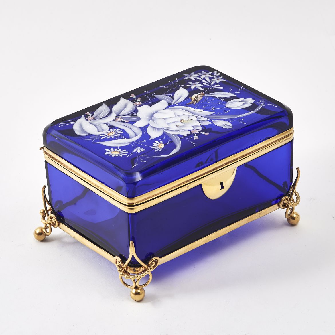 Bohemian Enamelled Glass Casket