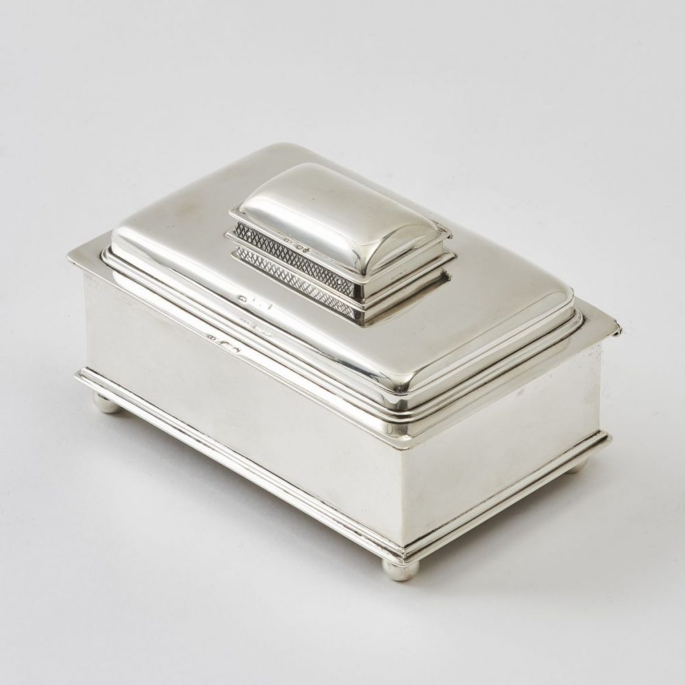 George Howson Silver Stacked Cigarette Box
