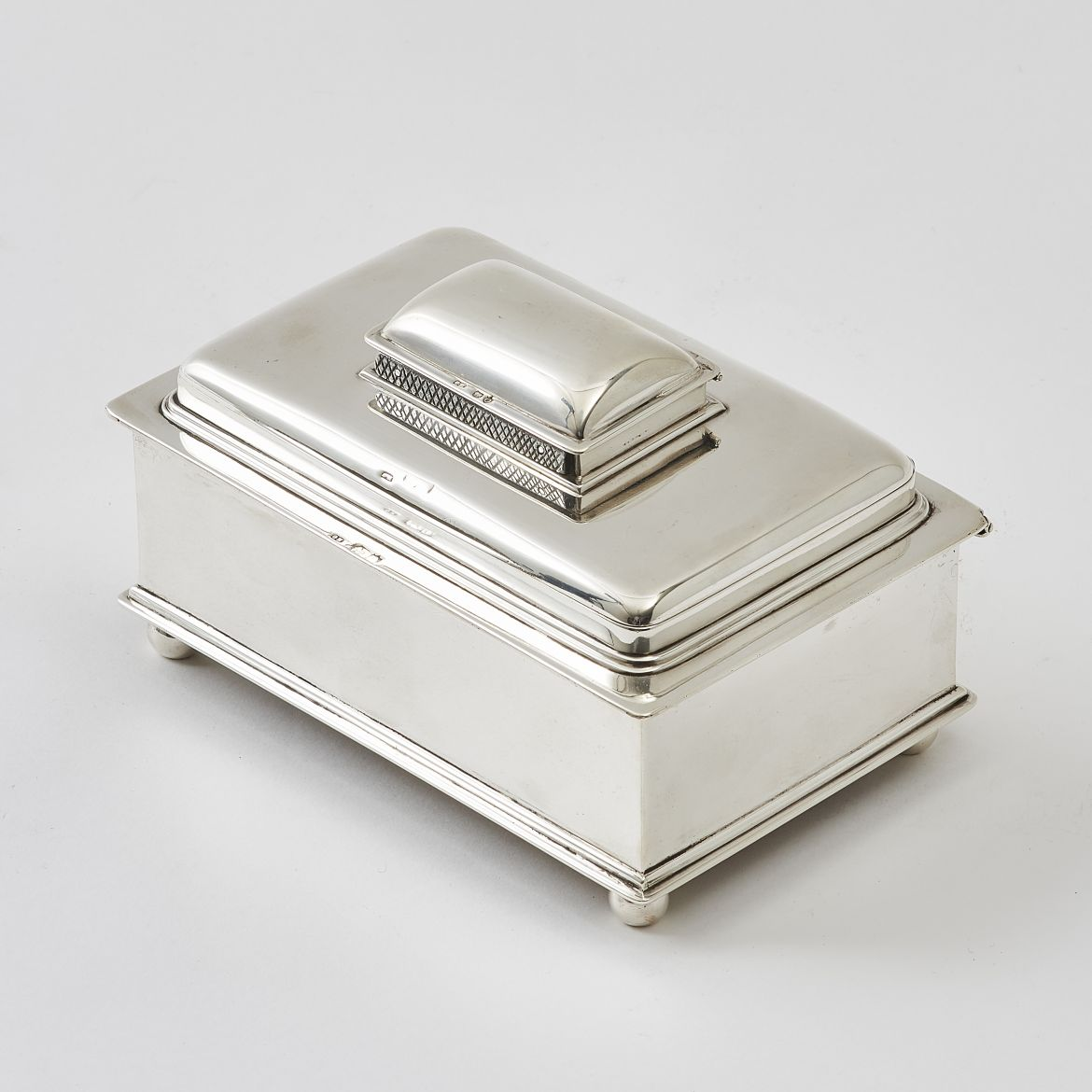 English Silver Stacked Cigarette Box