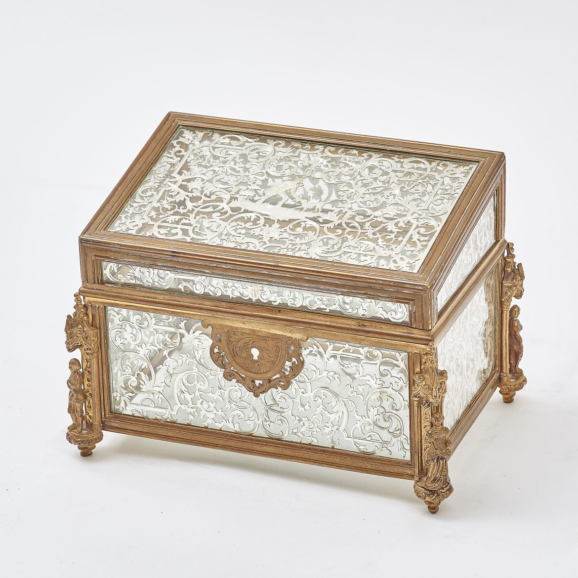 Baroque Style Glass Box