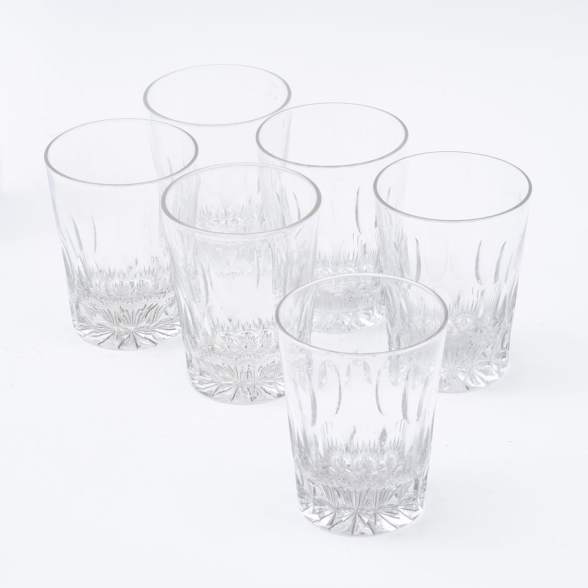 Six English Whisky Tumblers