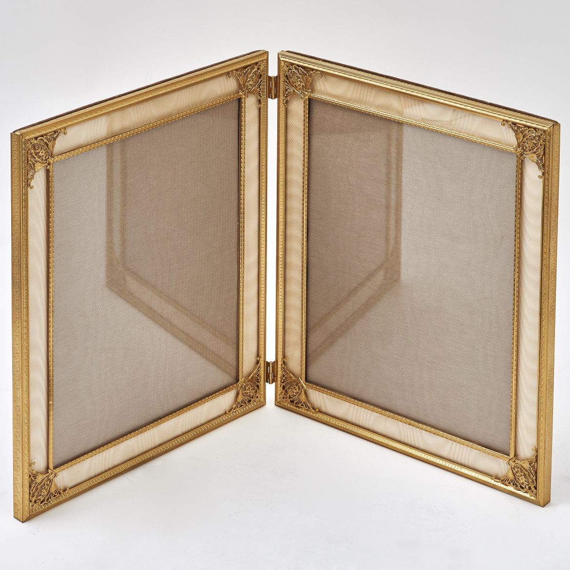Gilt Bronze Folding Double Frame