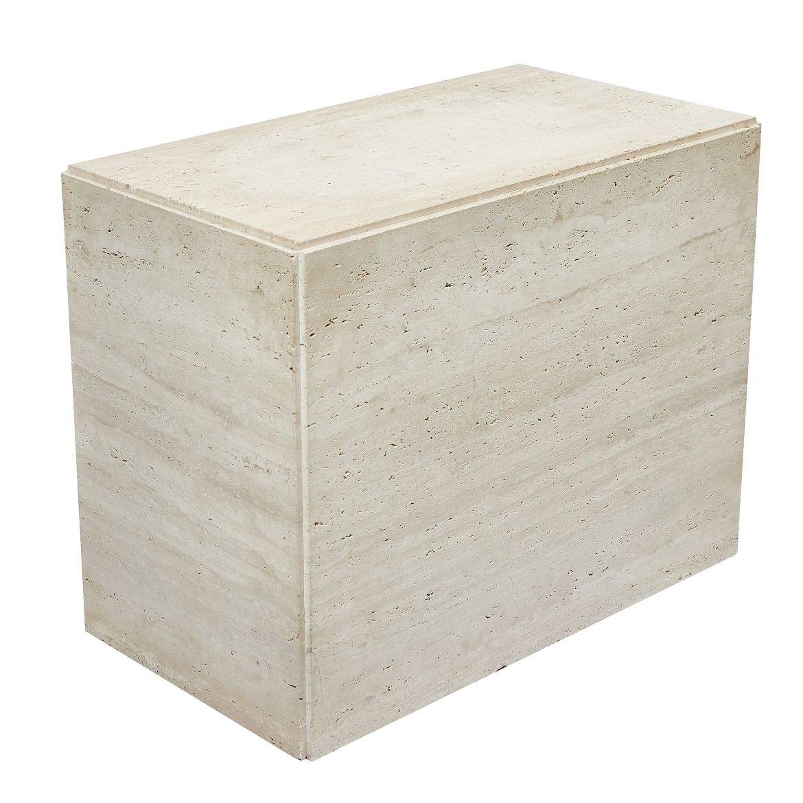 Oblong Travertine Plinth