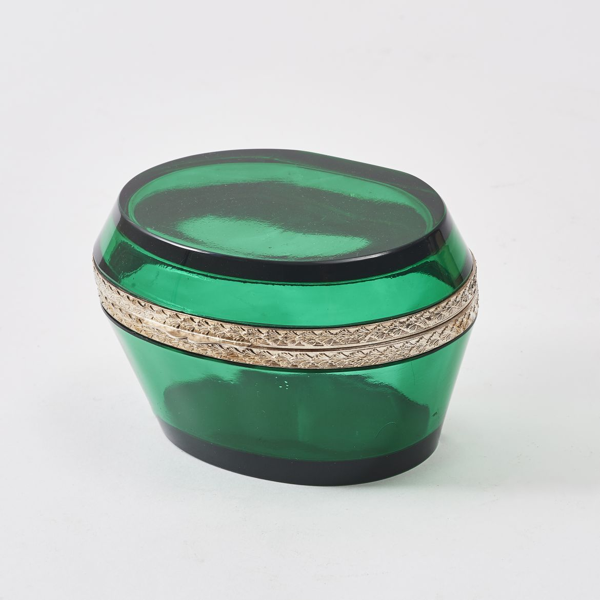 Ovoid Clear Green Casket