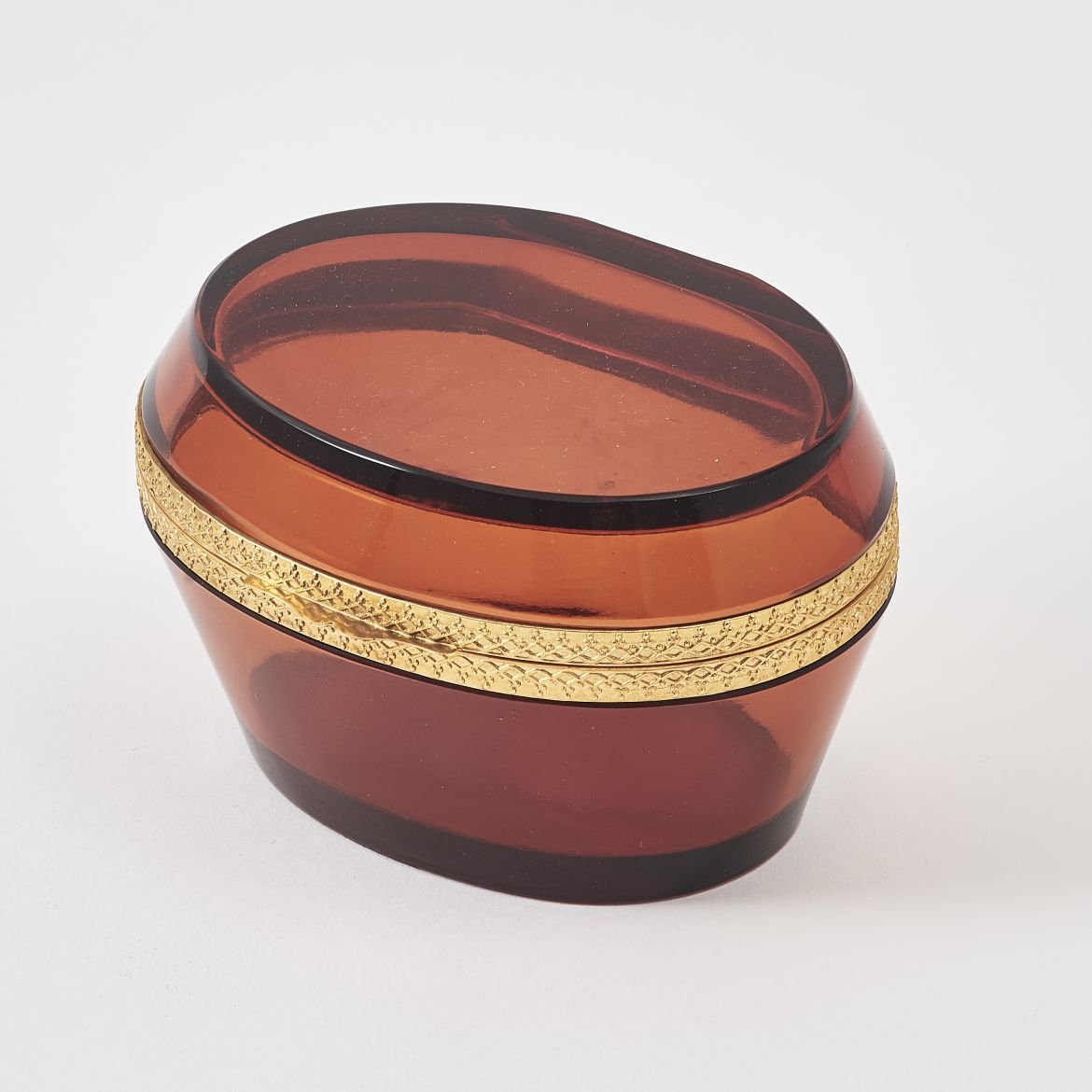 Ovoid Amber Glass Casket