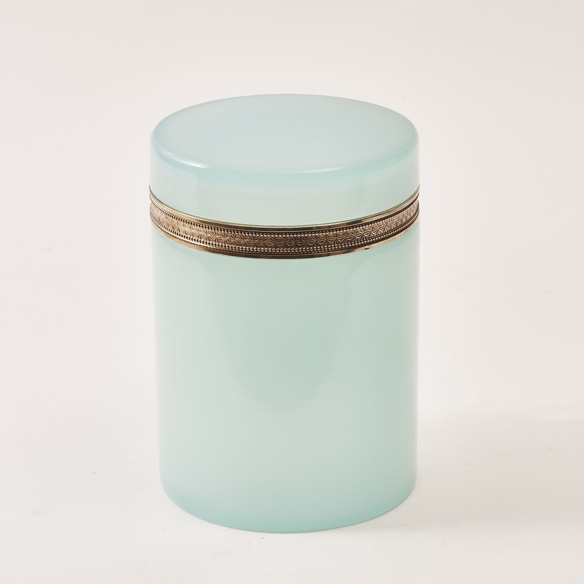 Pale Blue Cylindrical Casket