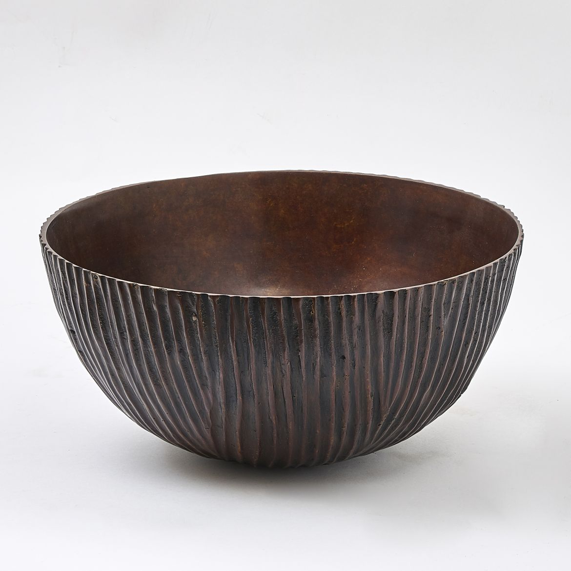 Thai Ribbed Bronze Bowl