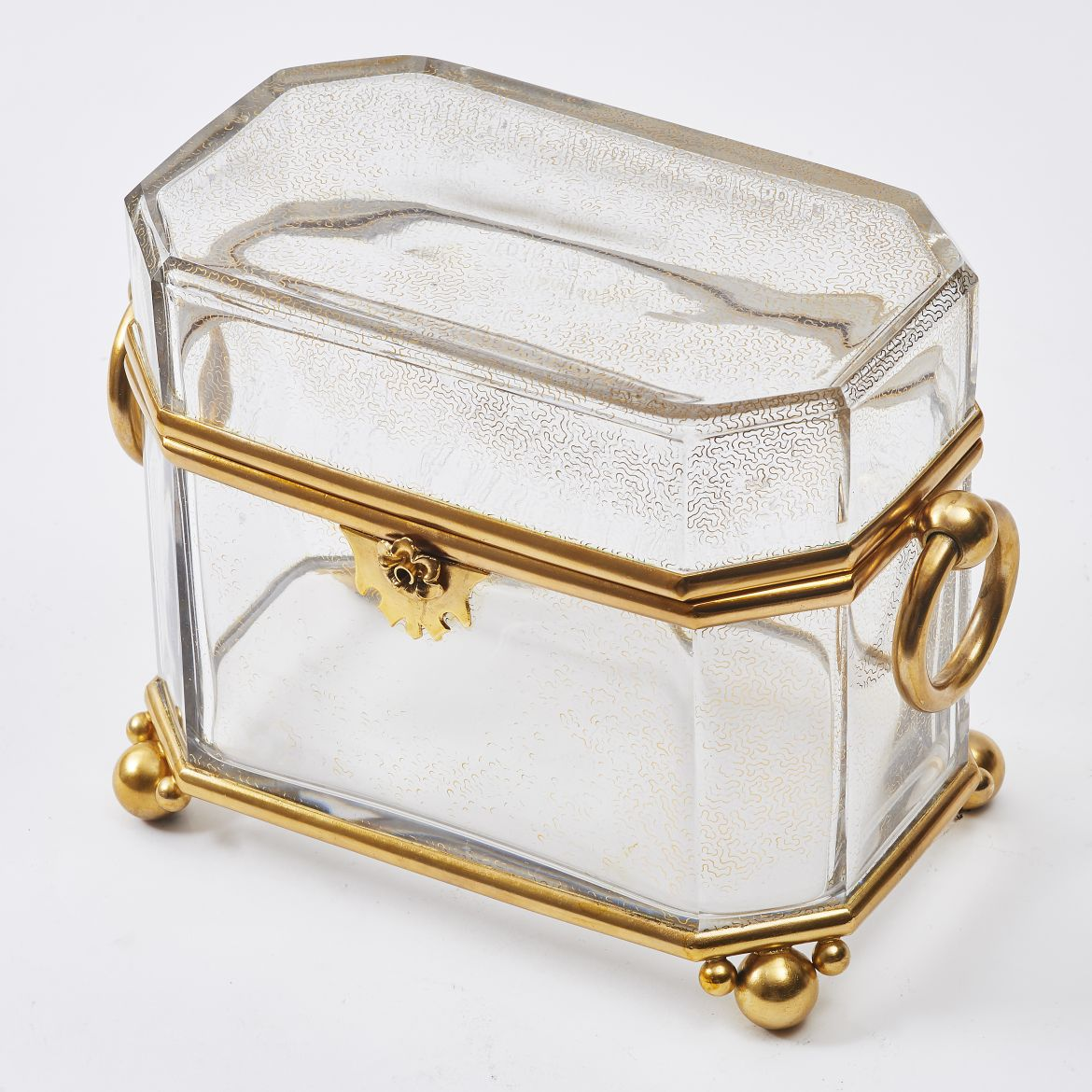 Glass and Ormolu Casket