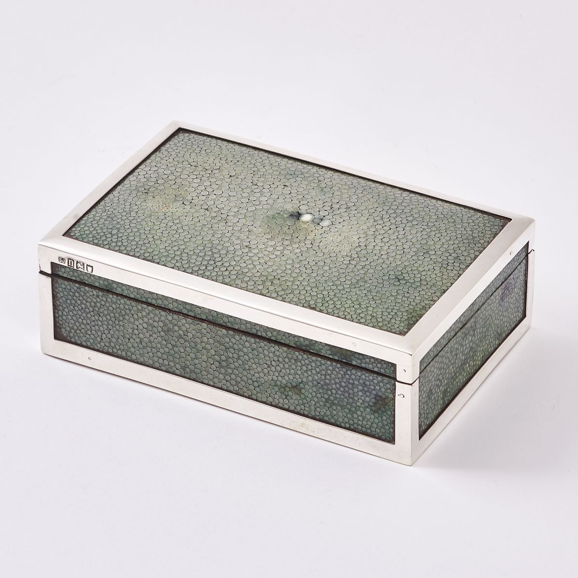 Silver & Shagreen Cigarette Box