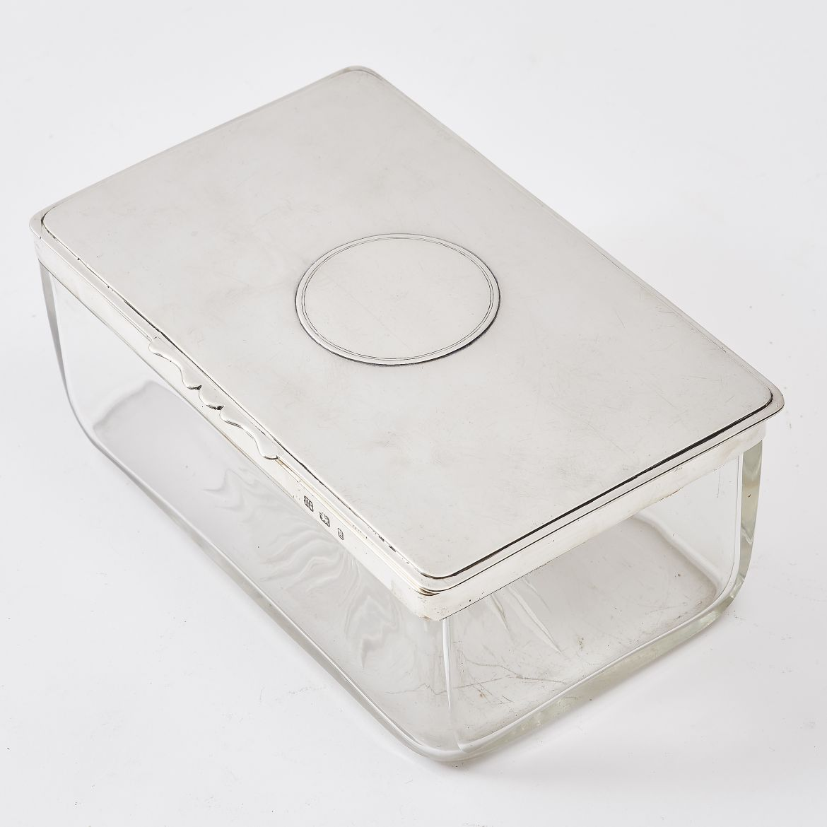 Hukin and Heath Glass and Silver Box