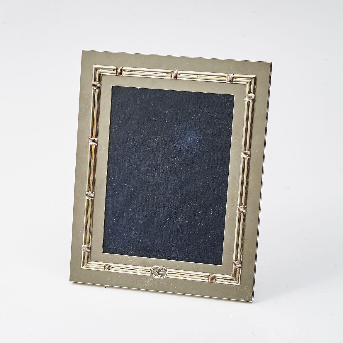 Silver Plate Faux Bamboo Frame