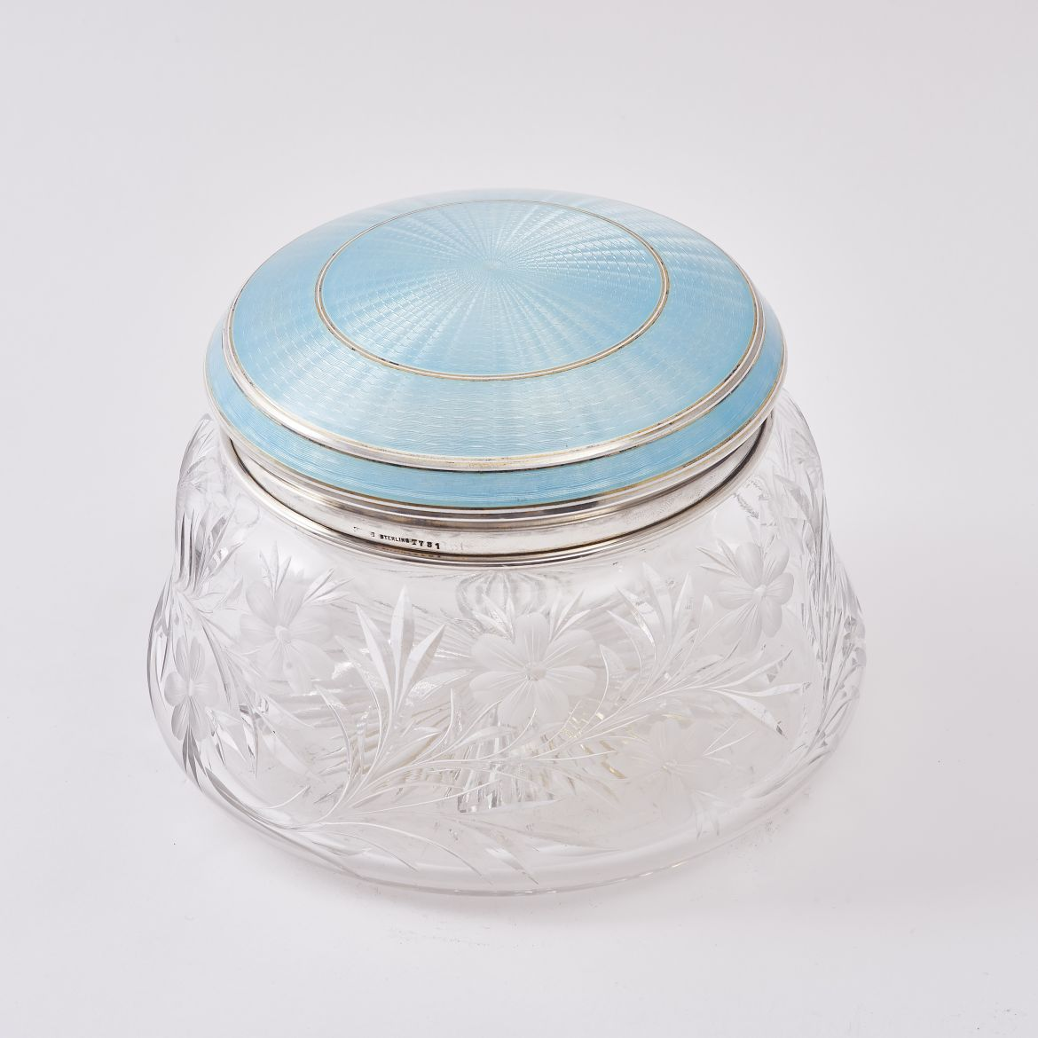 Large Pale Blue Enamel Box
