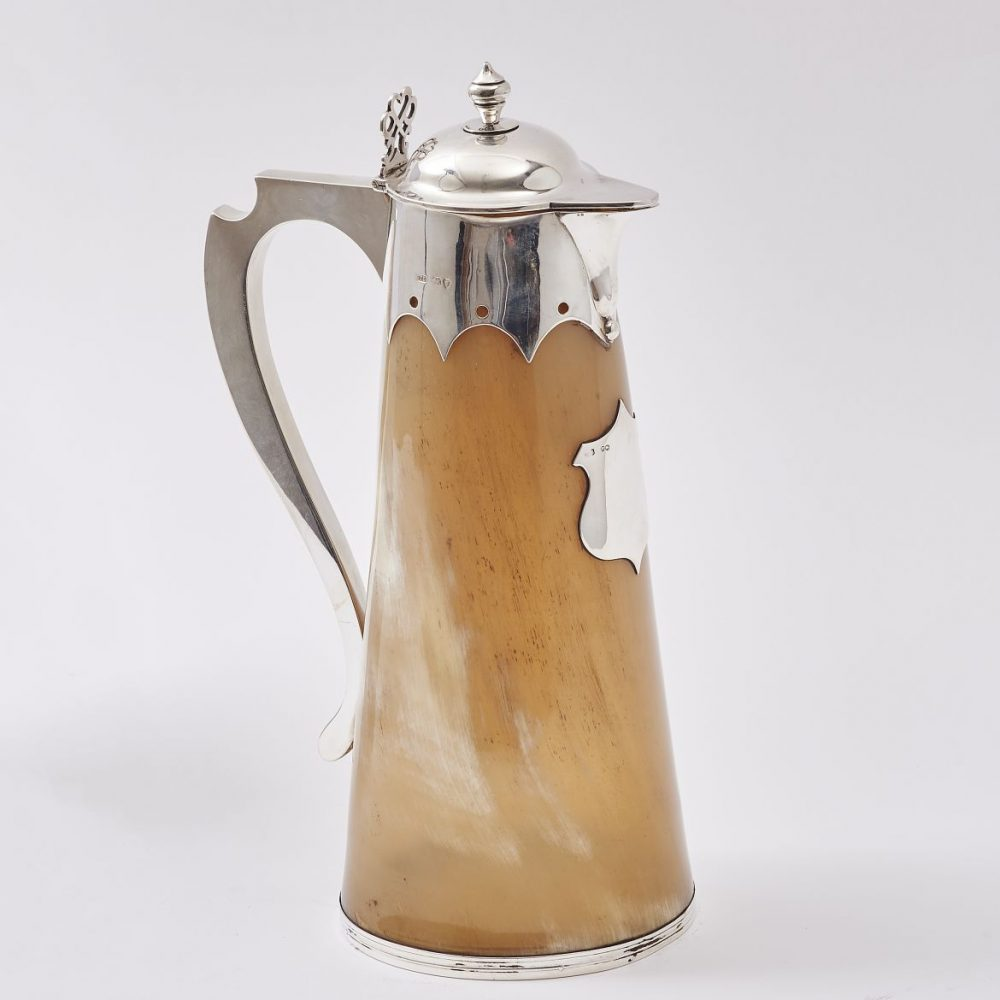 English Horn and Silver Jug