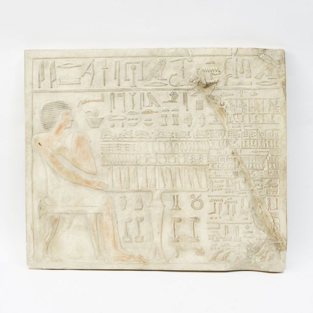Plaster Relief with Egyptian Carving