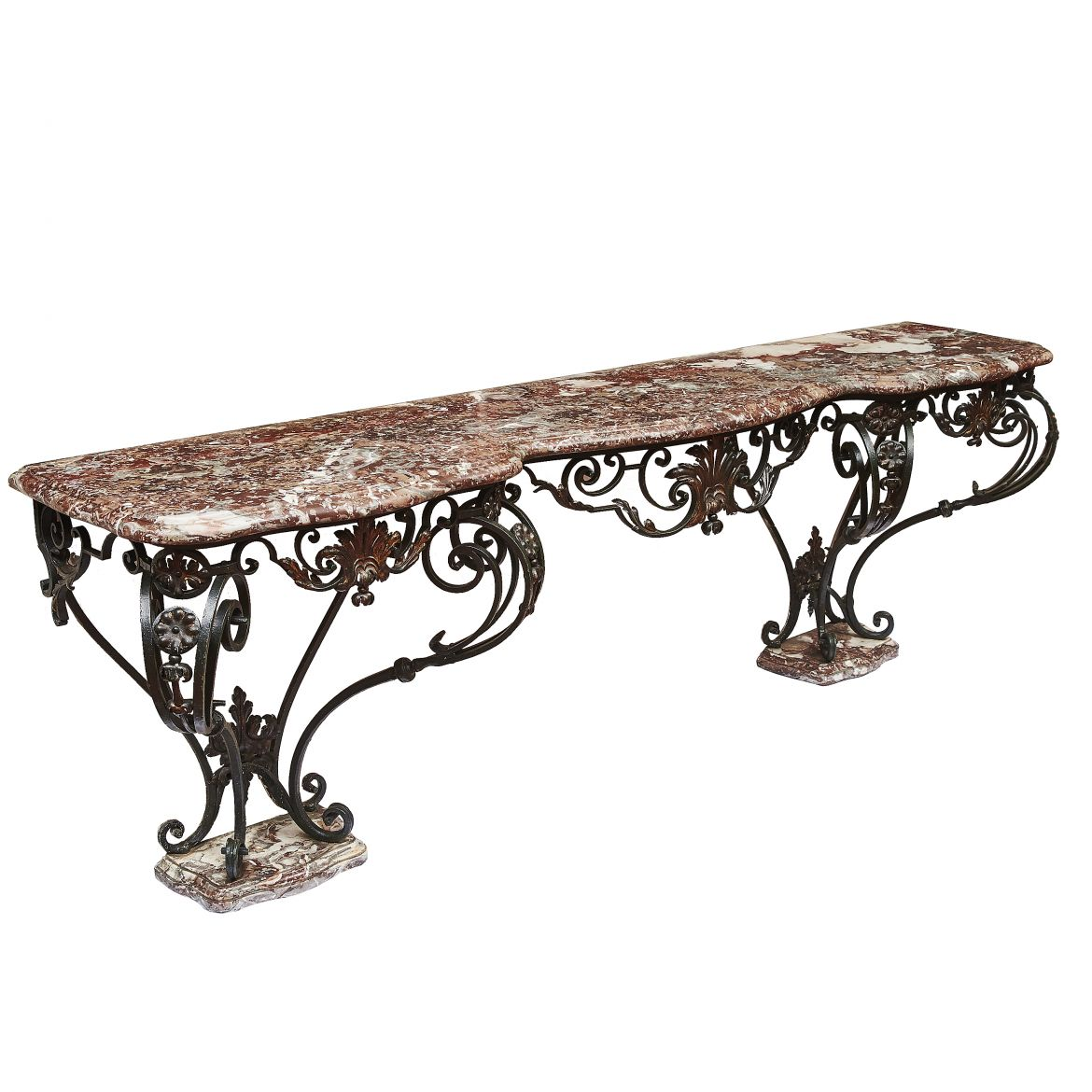 Large Wrought Iron Console