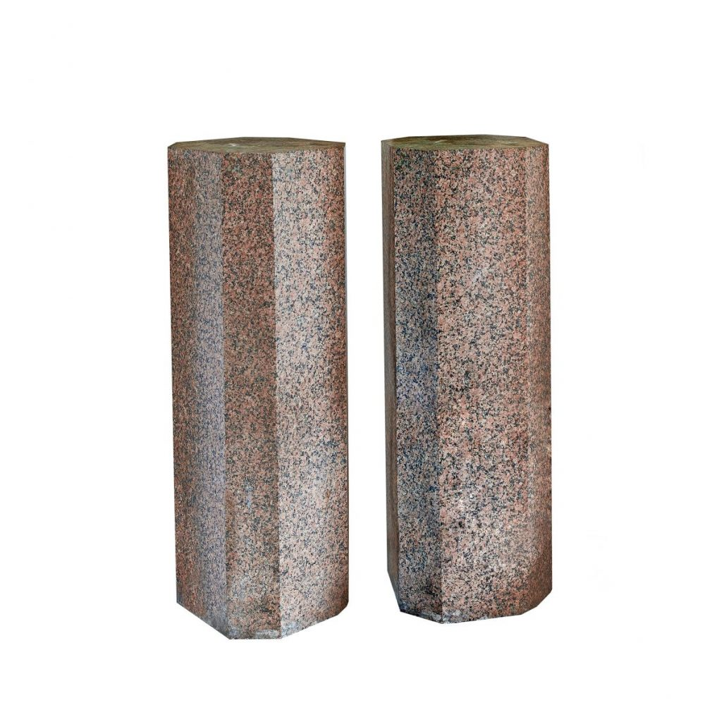 Pair Egyptian Granite Columns