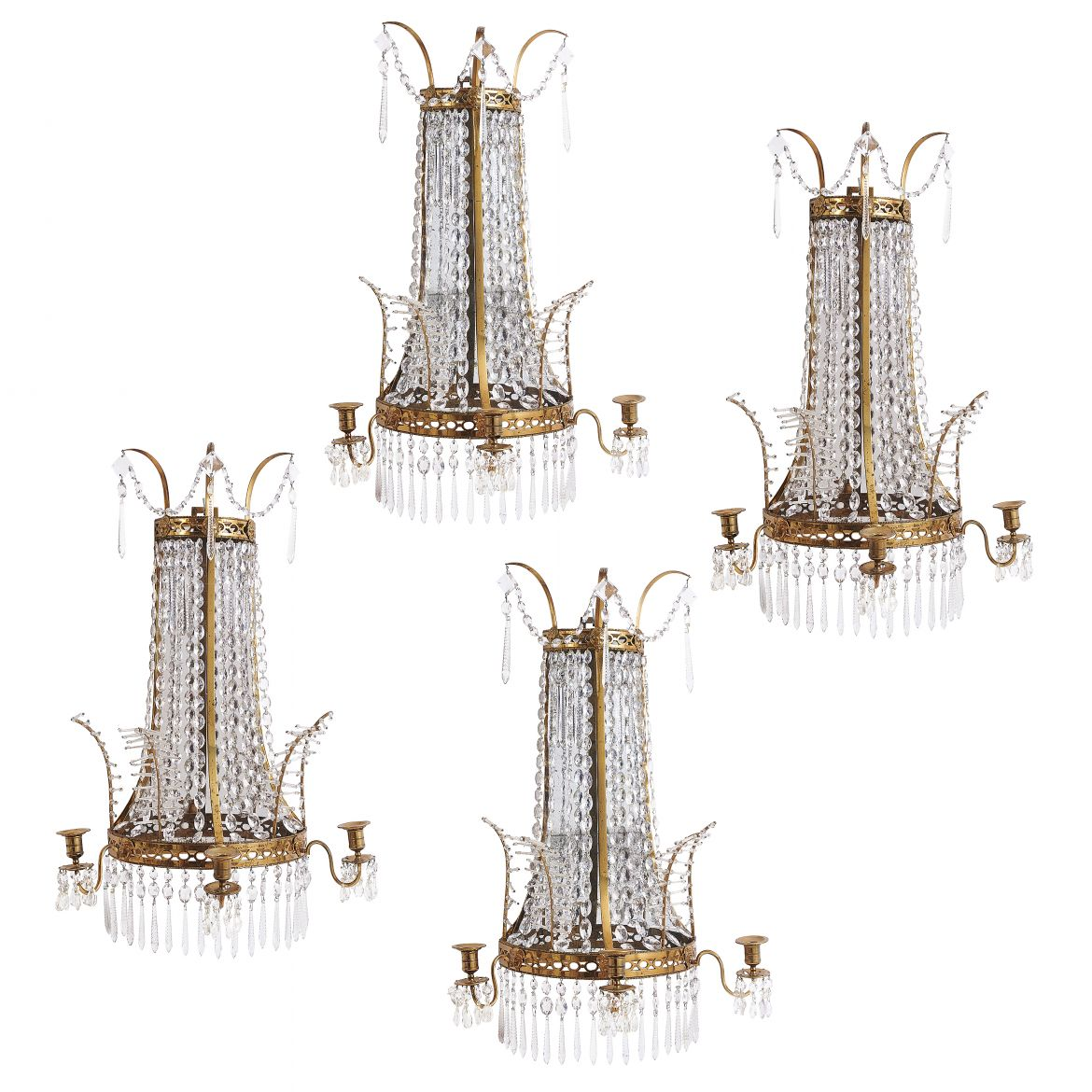 Four French Empire Style Sconces