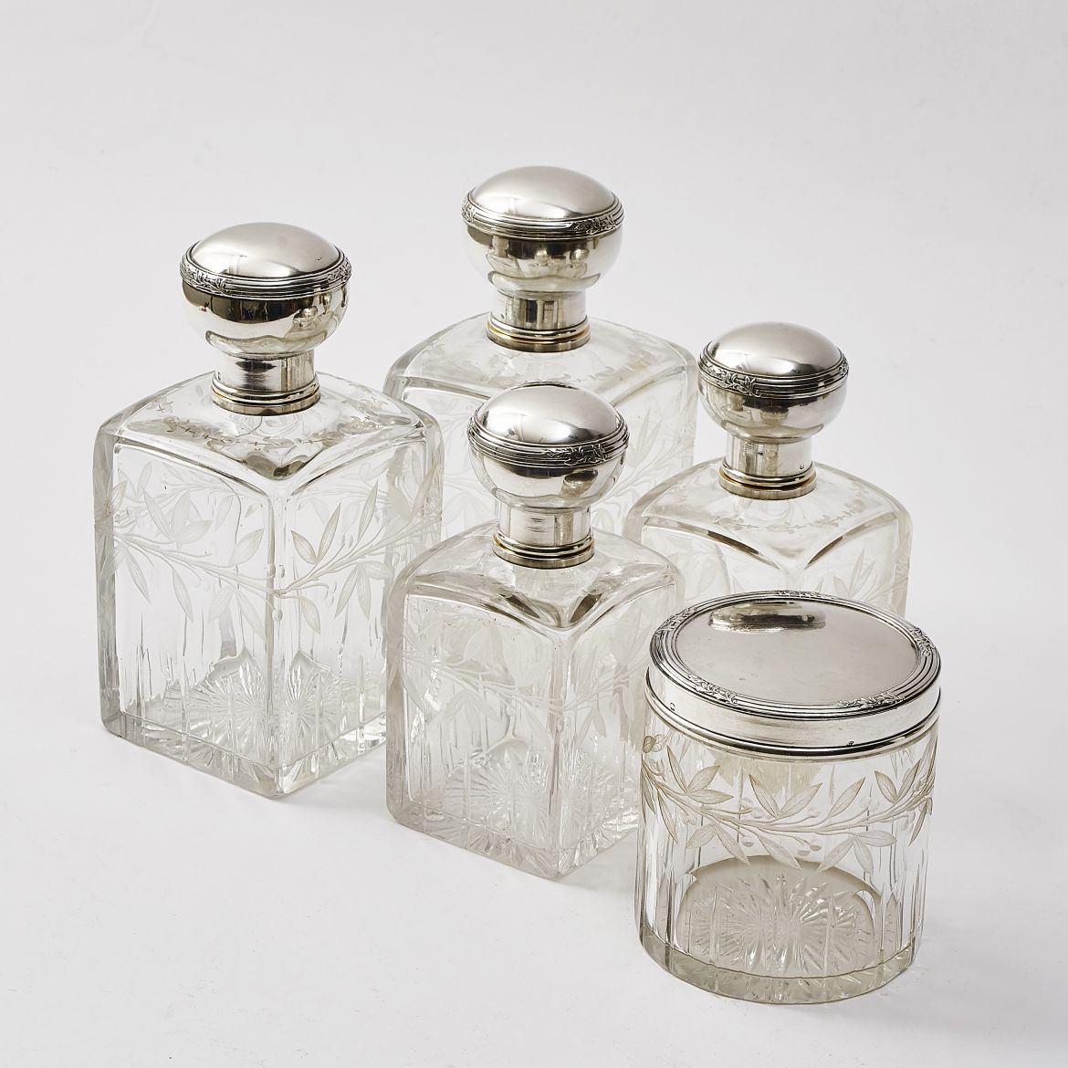 French Crystal Scent Bottle Set