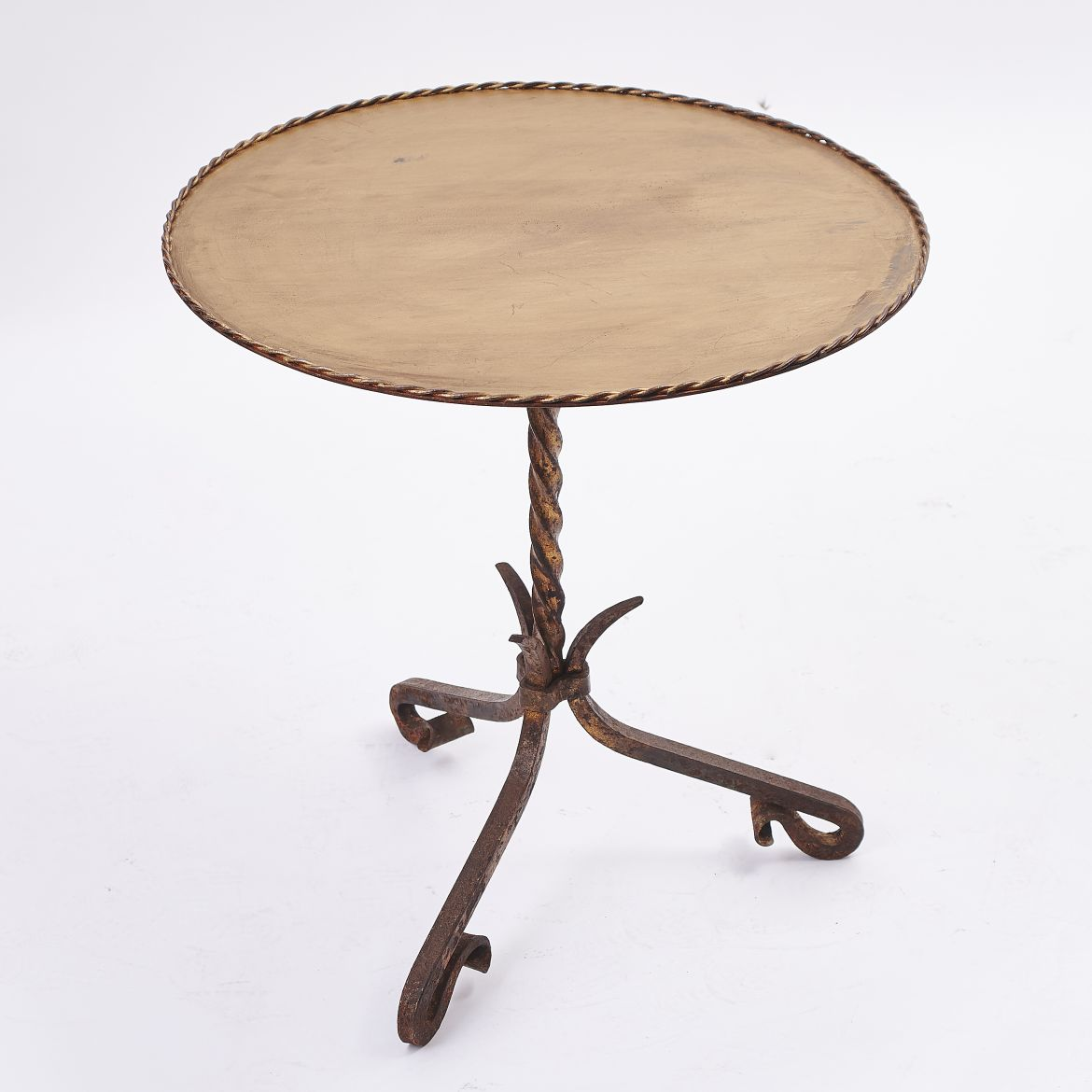 Gilt Iron 'Martini' Table