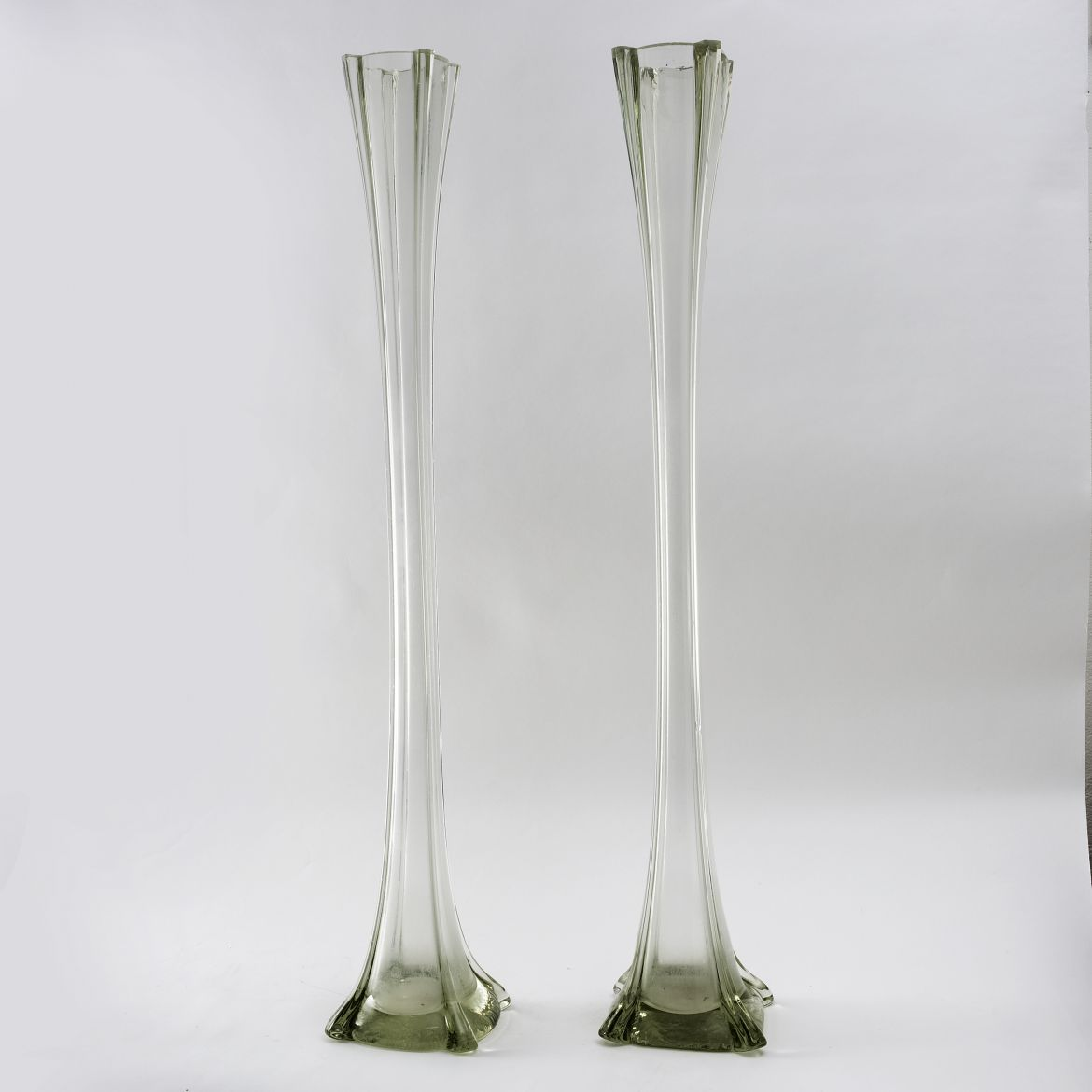 French Glass Lily Vases