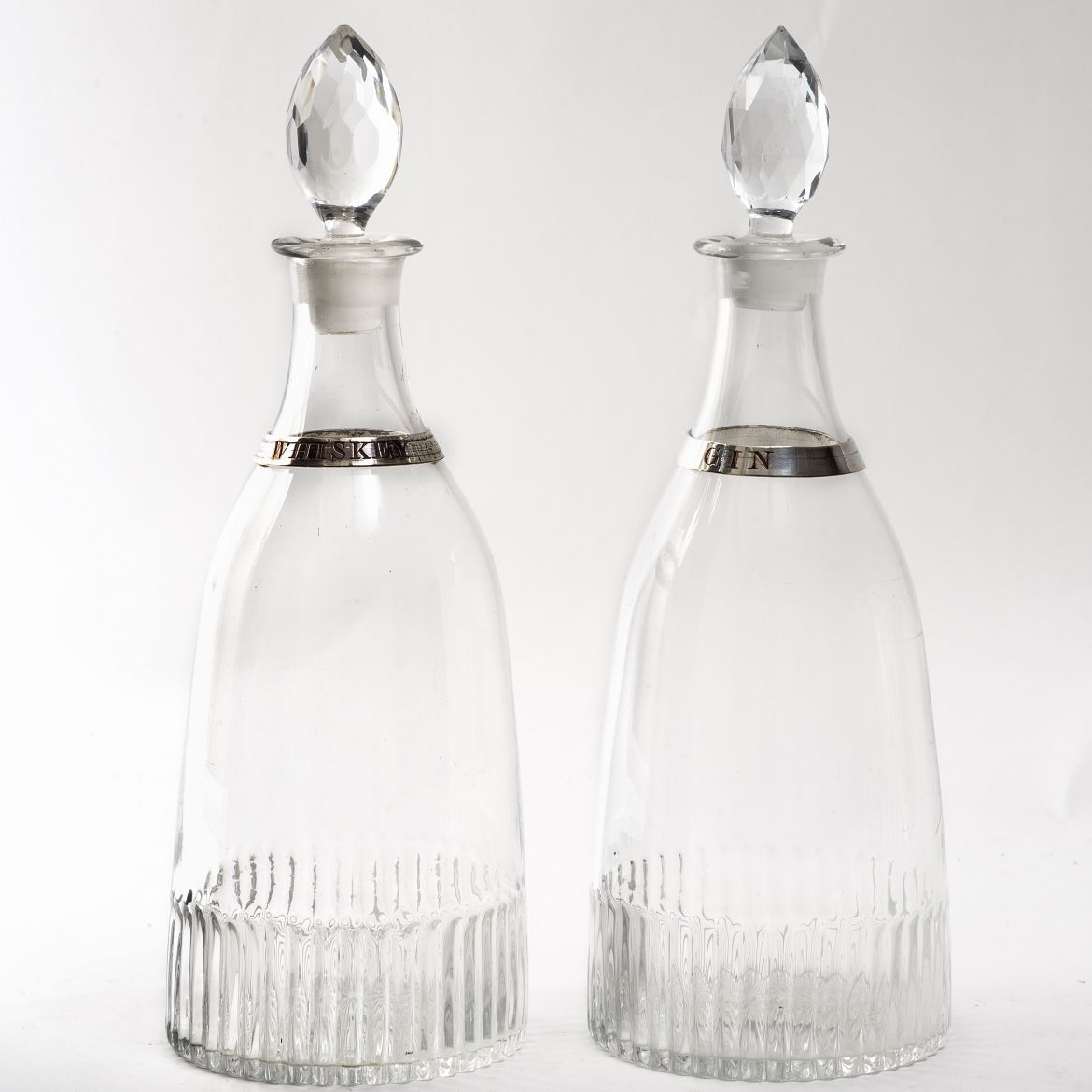 French Tapering Decanters