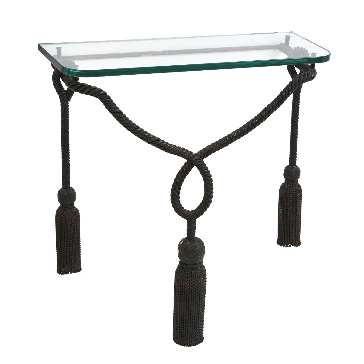 French Glass Top Console