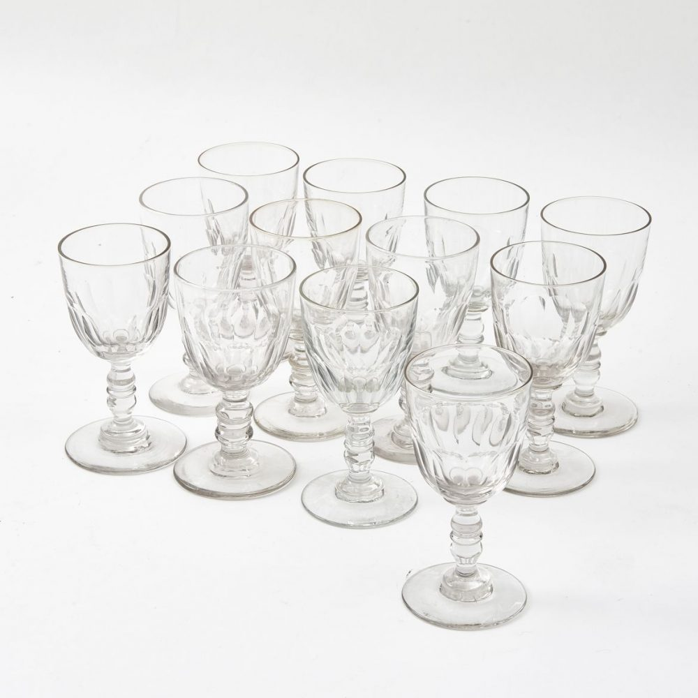 Twelve French Wine Glasses