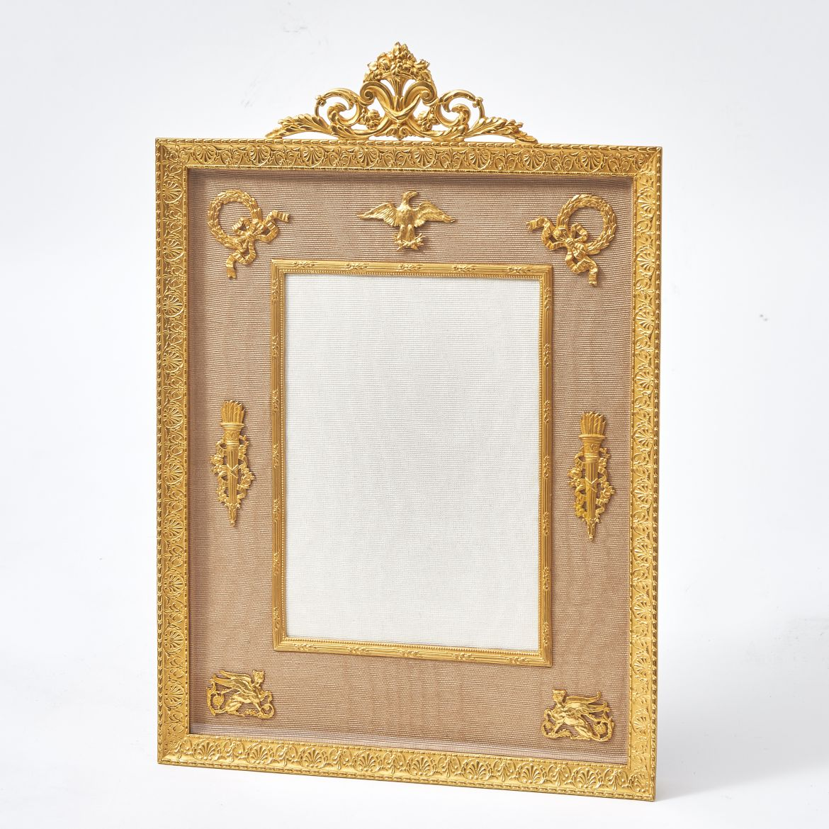Ormolu Frame With Foliate Crest