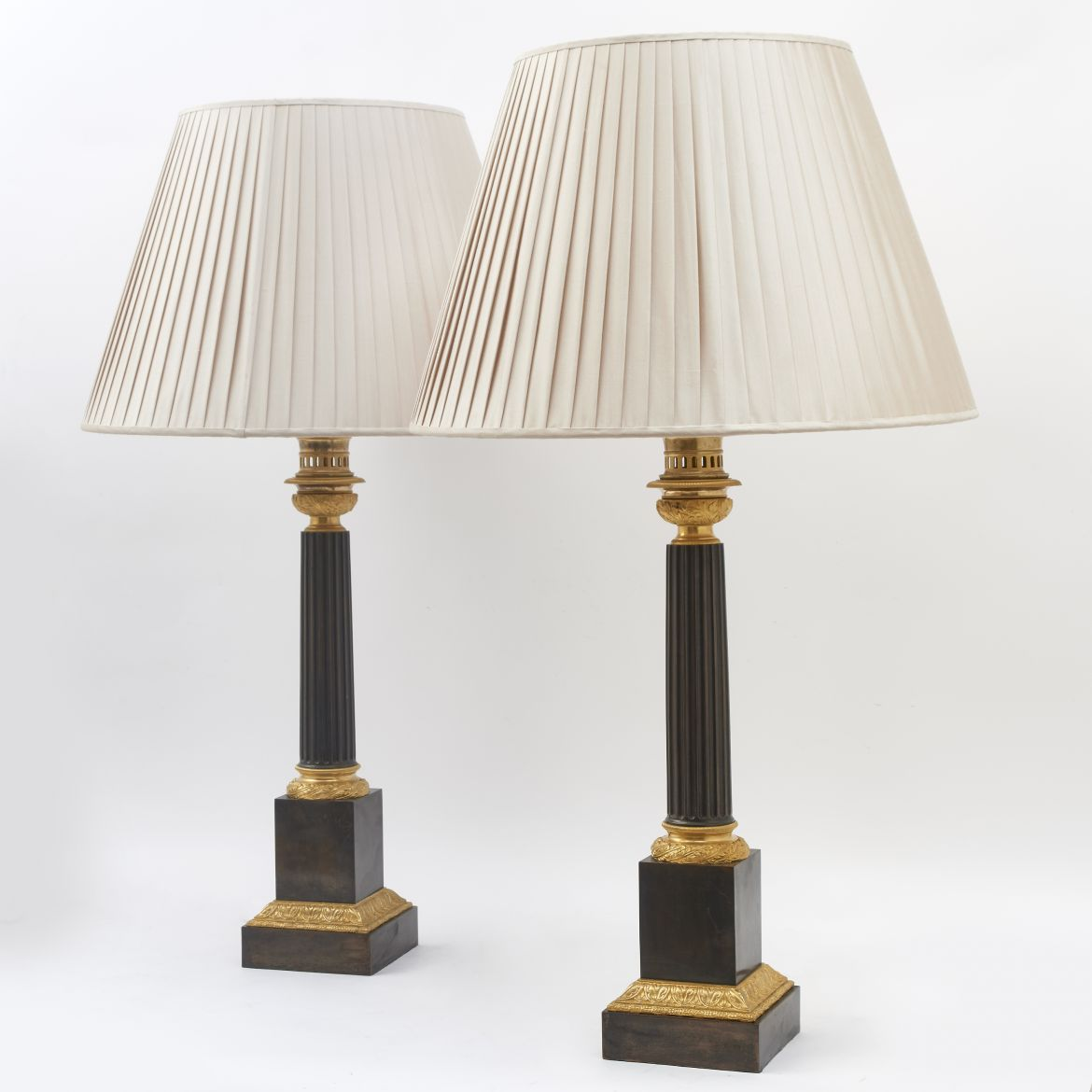 Pair Louis Philippe Bronze Lamps