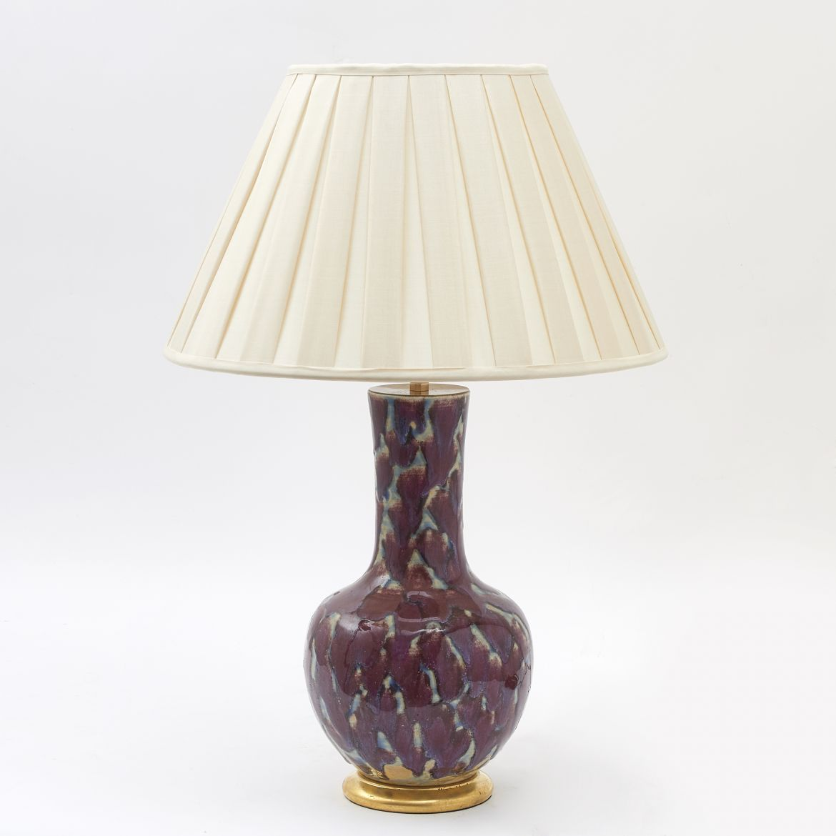 Chinese Flambé Lamp
