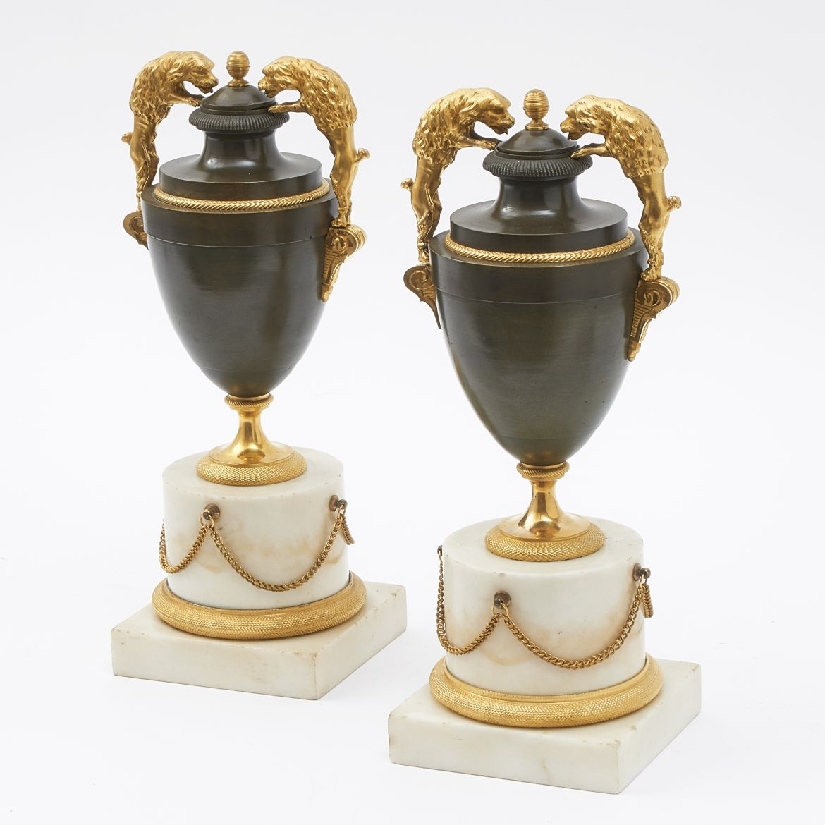 Pair Louis XVI Urns
