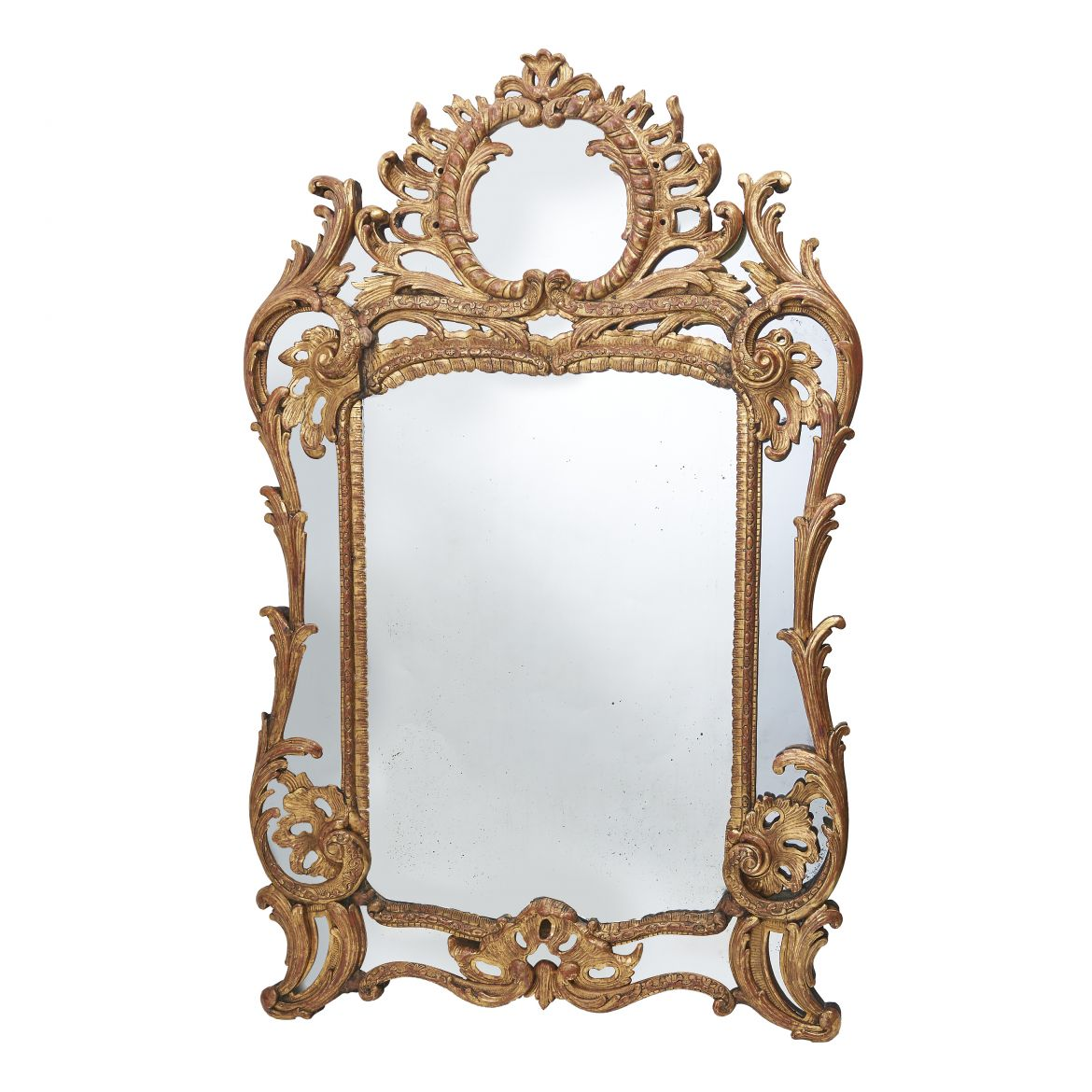 Large Giltwood Carved 'Parecloses' Mirror