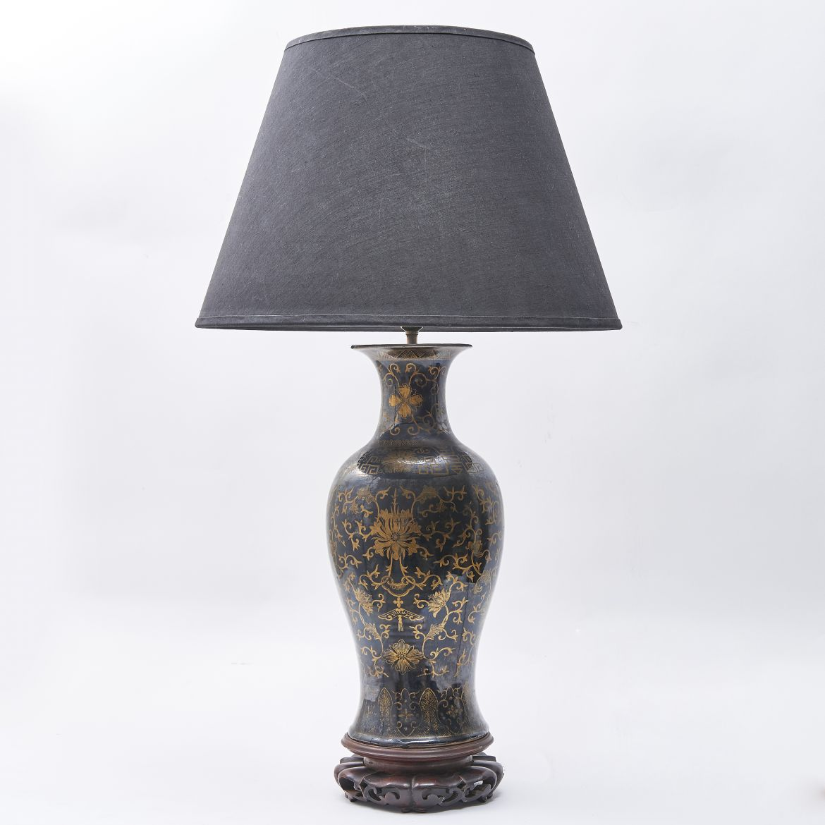 Chinese Gilt Decorated Lamp