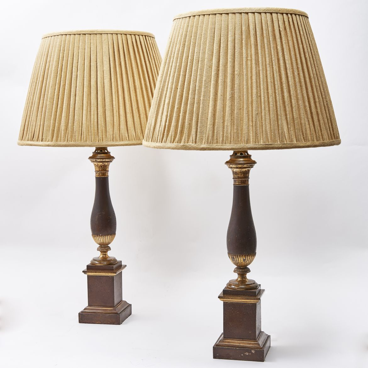 Pair Louis Philippe Tole Lamps