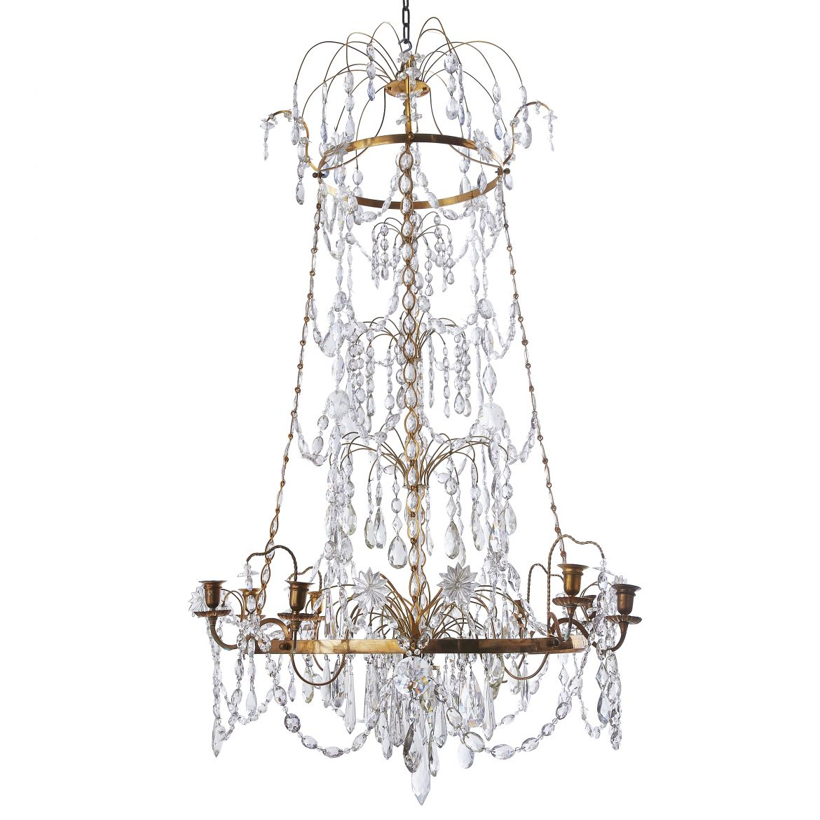 Gustavian Chandelier After Olof Westerberg