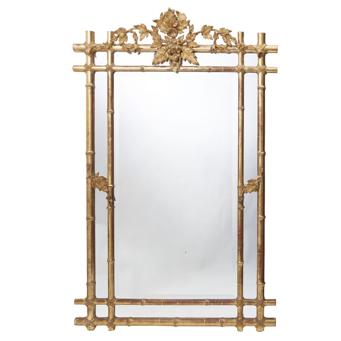 Gilt Faux Bamboo Mirror