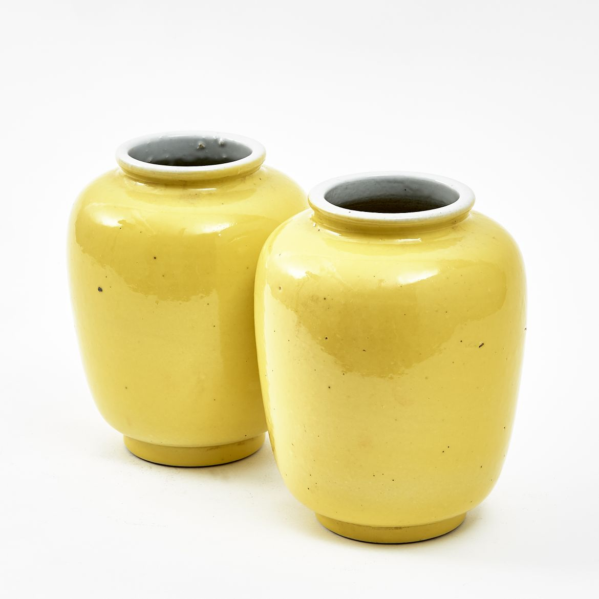 Chinese Yellow Ginger Jars