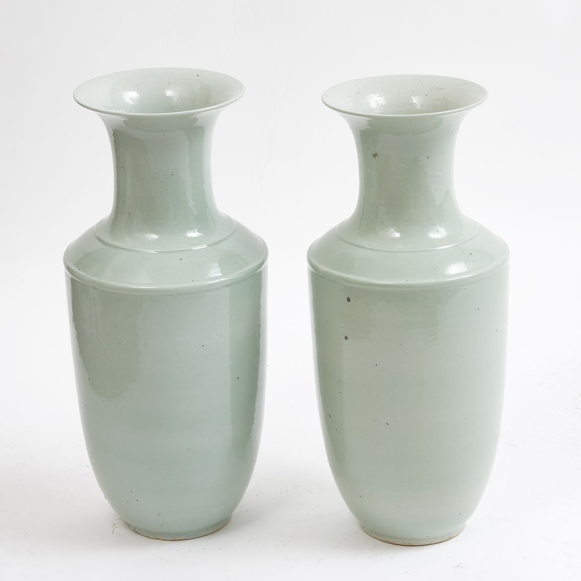 Pair Chinese Baluster Vases