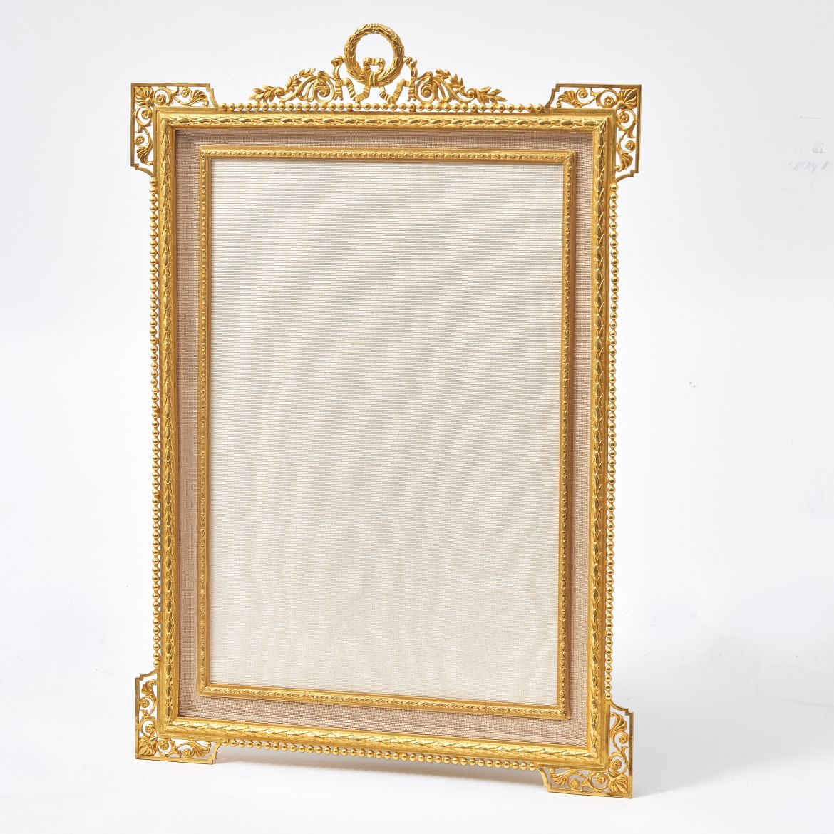 French Ormolu Frame with Laurel Crest