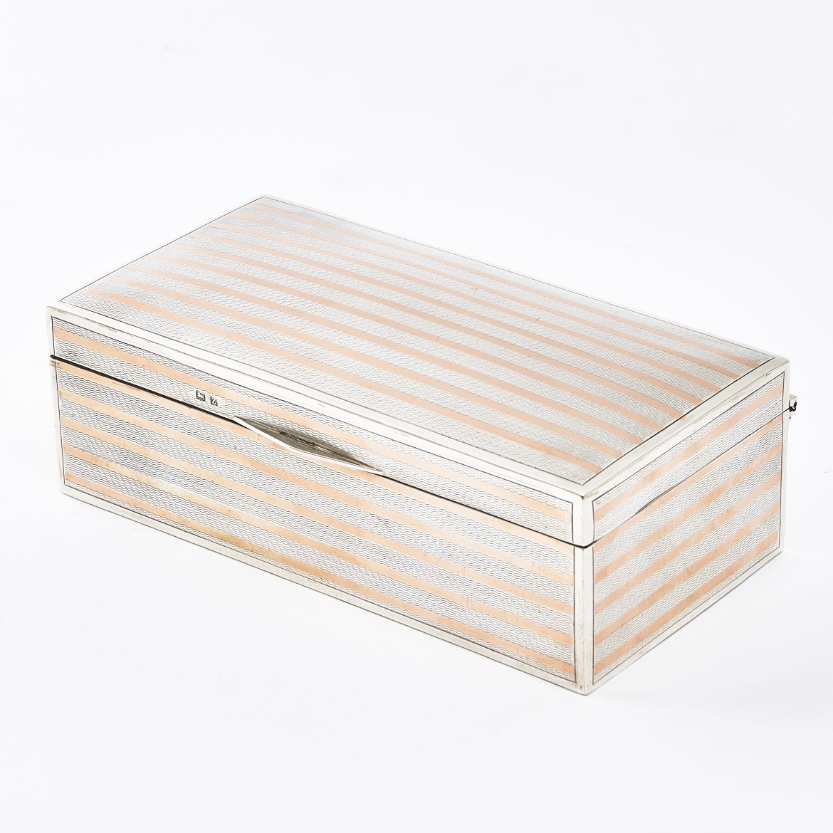 Pink Gold and Silver Cigarette Box