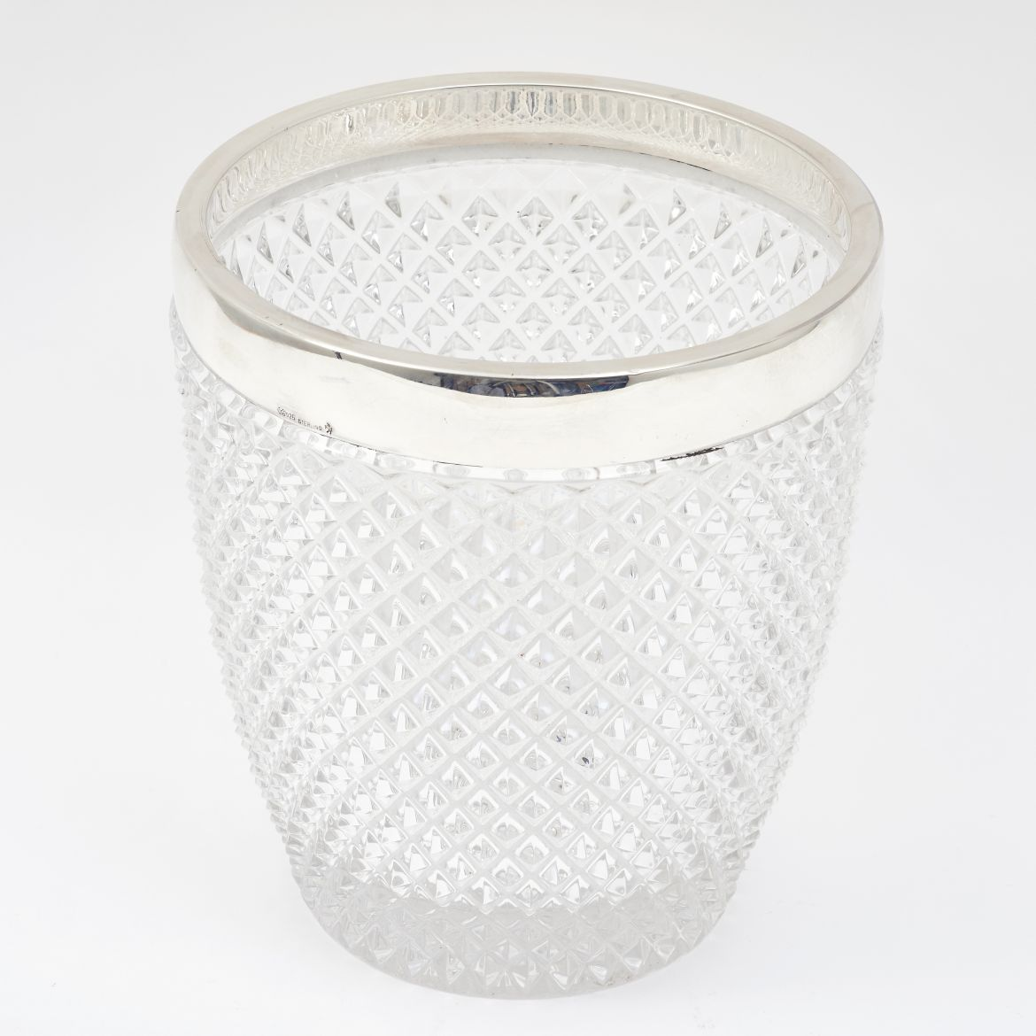 Crystal & Silver Champagne Bucket