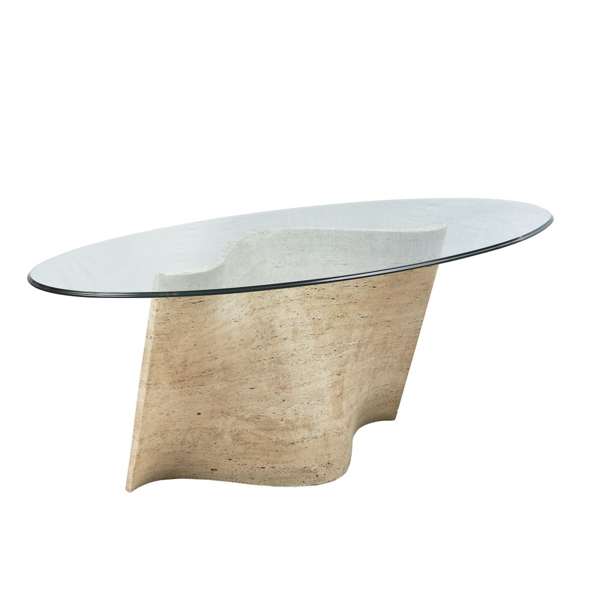 Travertine Wave Form Dining Table