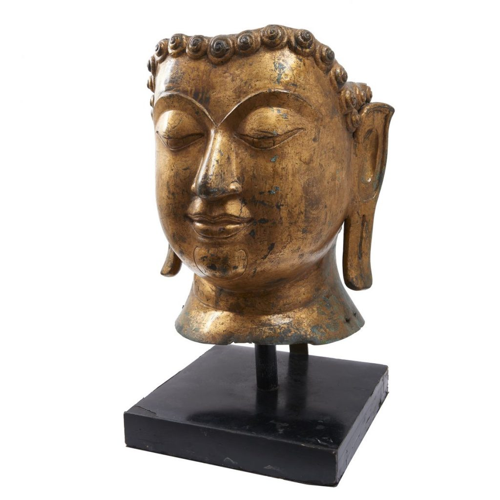 Large Gilt Buddha Head