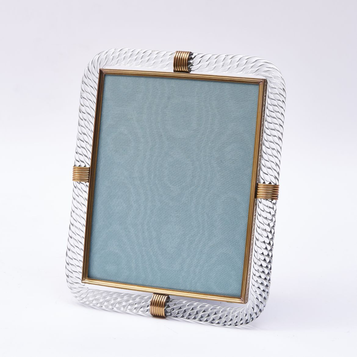 Murano Ribbed Glass Frame