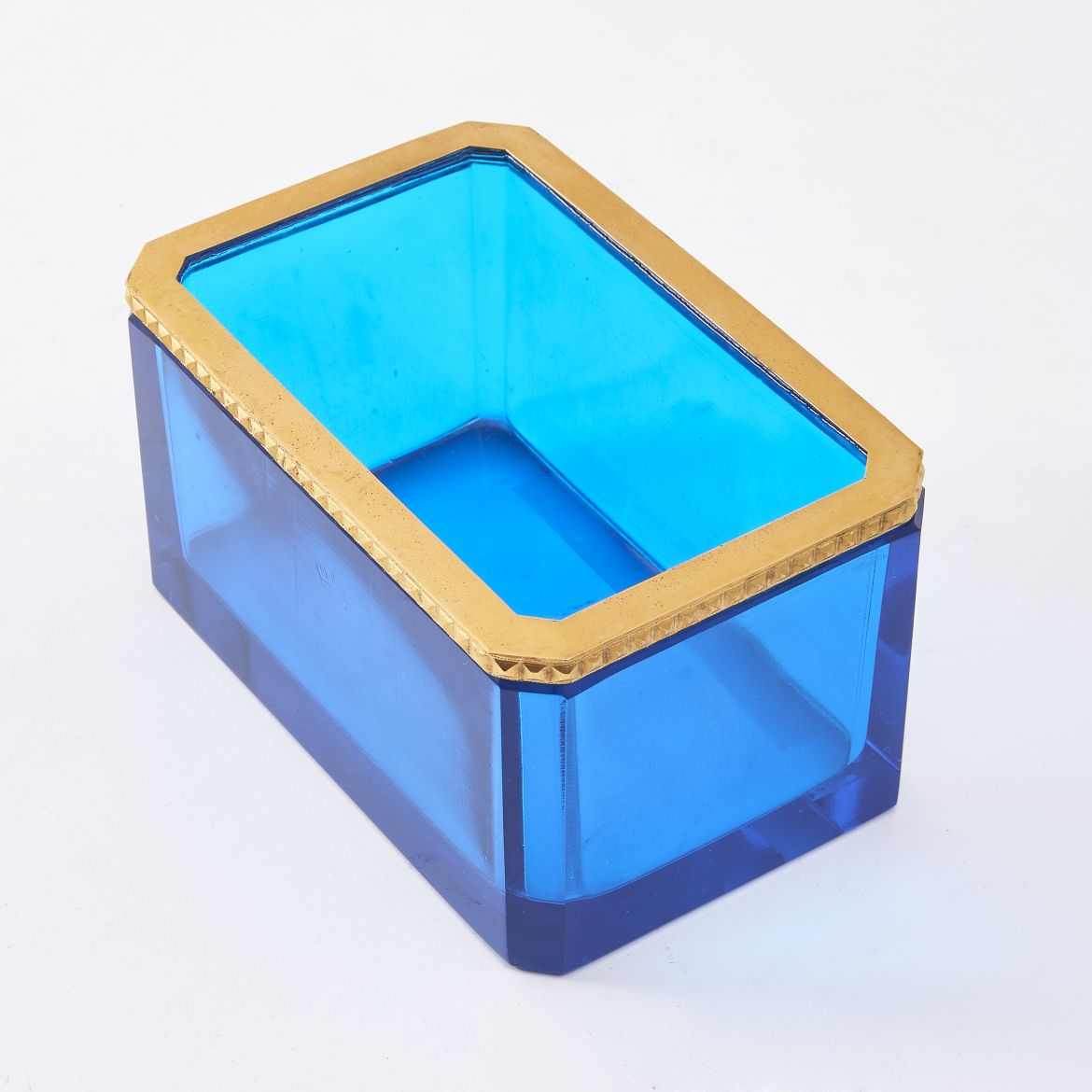 Light Blue Murano Glass Box